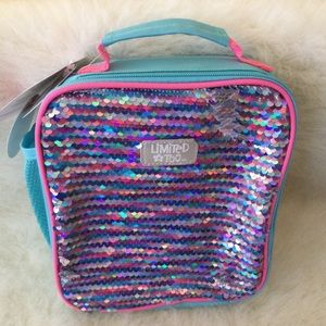 💕AWESOME 💕LIMITED TOO💯💜💖SEQUIN LUNCH BAG 💜